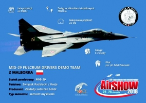 Fulcrum Drivers Demo Team. Mig-29 z Malborka na Air Show w Radomiu.
