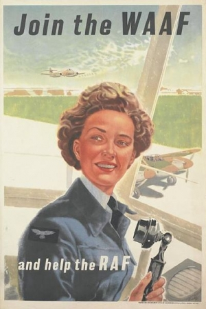 Źródło: By Air Ministry (publisher/sponsor), Luck (artist), Chromoworks Ltd, Willesden, London (printer), Her Majesty's Stationery Office (publisher/sponsor), WOMEN'S AUXILIARY AIR FORCE (publisher/sponsor) [Public domain], via Wikimedia Commons