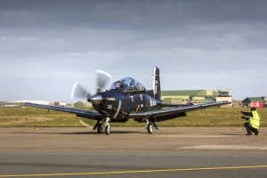 Texan T1 w RAF Valley. / Crown copyright.